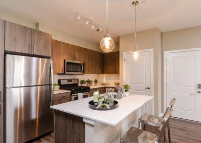 1BR model kitchen