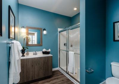 2BR model master bathroom