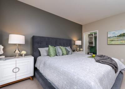 1BR model master bedroom