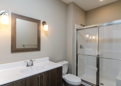 Photo gallery photo of one bedroom apartment with den bath room