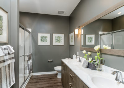 View our photo gallery image of one bedroom apartment bathroom