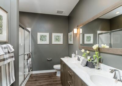 1BR model bathroom