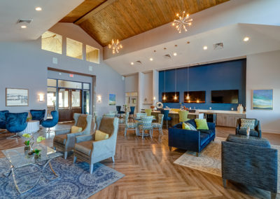 View our photo gallery image of apartment community clubhouse